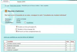 CAPES-2017-admission-résultats